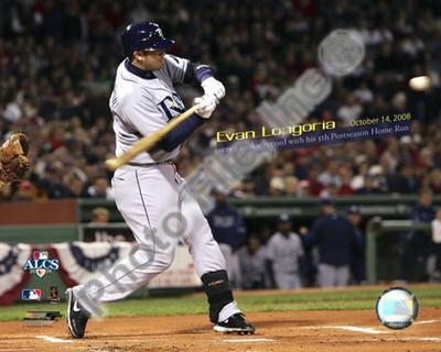 Evan Longoria Most Postseason Home Runs by a Rookie 2008 ALCS Game 4