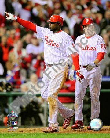 Ryan Howard & Chase Utley Game 4 of the 2008 MLB World Series