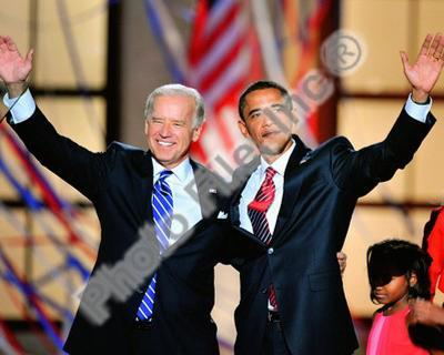 Historical Democratic Presidential candidate Barack Obama & Vice Presidential candidate Joe Biden,