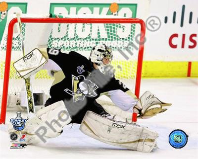 Marc-Andre Fleury Game 3 of the 2008 NHL Stanley Cup Finals Action; #11