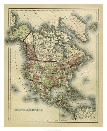 Antique Map of North America