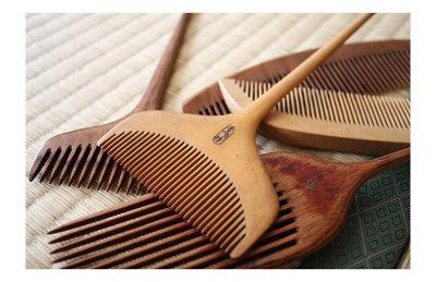 Geisha's Wooden Combs in Japan