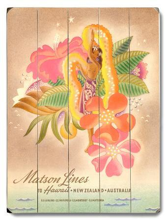 Matson Lines Women with Lei Advertisement