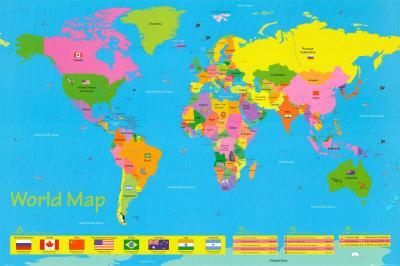 World Map - Children's