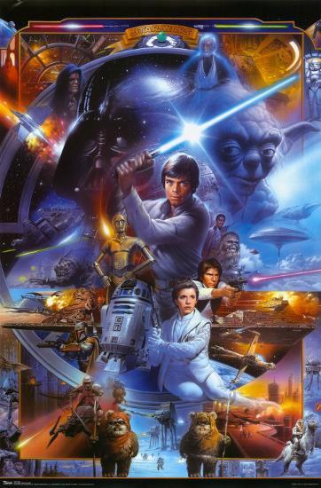 Star Wars Saga Collage Print At Allposters Com