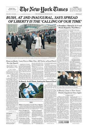 New York Times, January 21, 2005: Bush at 2nd Inaugural