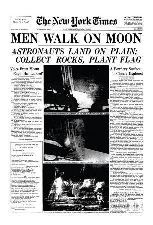 New York Times, July 21, 1969: Men Walk on Moon
