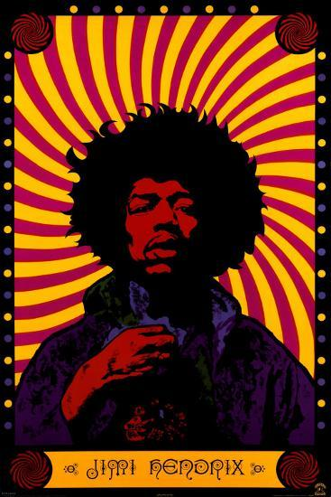 Jimi Hendrix Psychedelic Prints At Allposters Com
