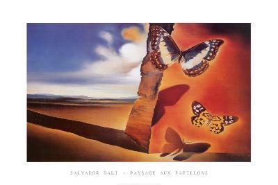 Paysage Aux Papillon