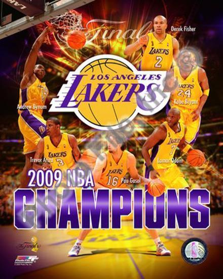 2008-09 Los Angeles Lakers NBA Finals Champions Photo At