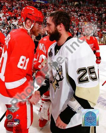 Maxime Talbot & Marian Hossa Game 7 of the 2008-09 NHL Stanley Cup Finals