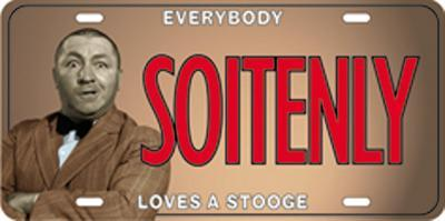 The Three Stooges - Soitenly License Plate