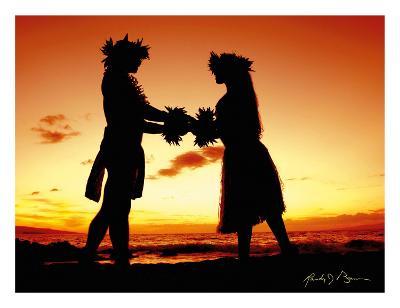 Love Gives Life Within, Hawaiian Hula Dancers at Sunset