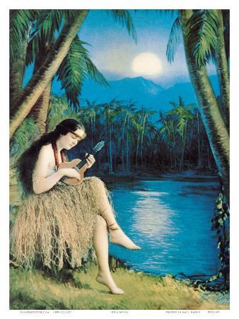 Hula Moon, Hawaiian Girl, c.1930