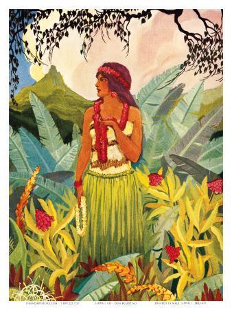 Hawaii Nei, Hula Moons Book Illustration, c.1930