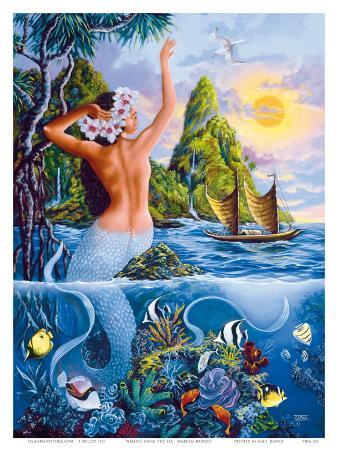 Wahine from the Sea, Hawaiian Mermaid