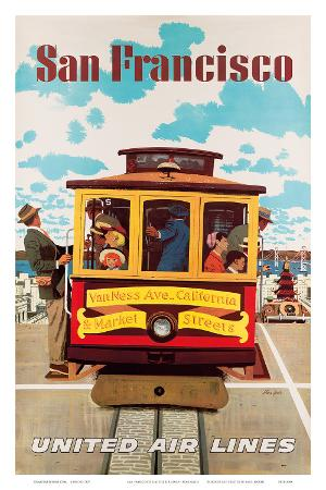 United Air Lines San Francisco, Cable Car c.1957