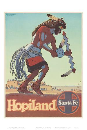 Santa Fe Railroad, Hopiland, Native American Hopi Indian, Arizona, 1940s