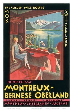 Montreux, Bernese Oberland Railway, Switzerland, c.1925