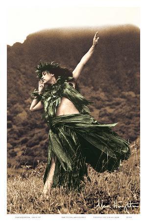 Primitive Hula, Hawaiian Hula Dancer