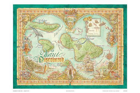 picture relating to Maui Map Printable called Maui Identified, Traditional Map of Maui, Hawaii