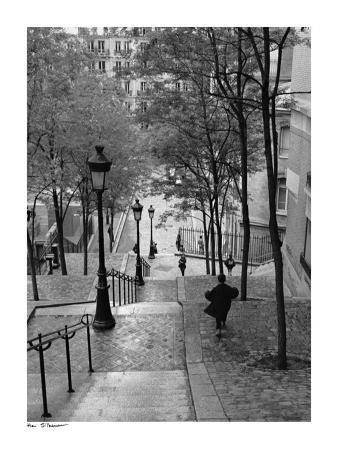 Escaliers a Montmartre, Paris