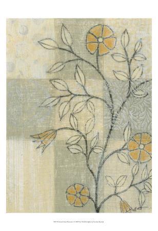 Neutral Linen Blossoms I