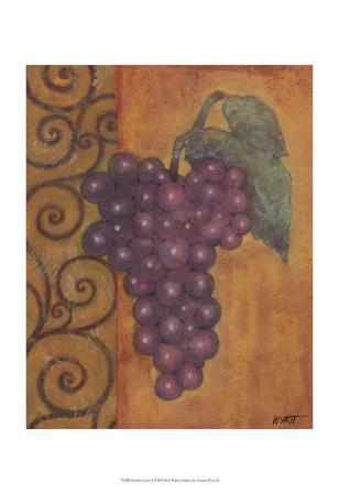 Scrolled Grapes I