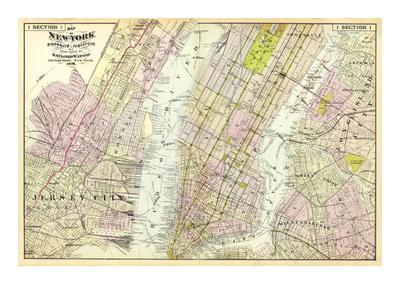 New York, Brooklyn, Jersey City, c.1891