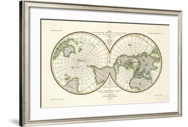 Karte Der Magnetischen Meridiane Und Parallel Kreise C 1840 Prints Heinrich Berghaus Allposters Com
