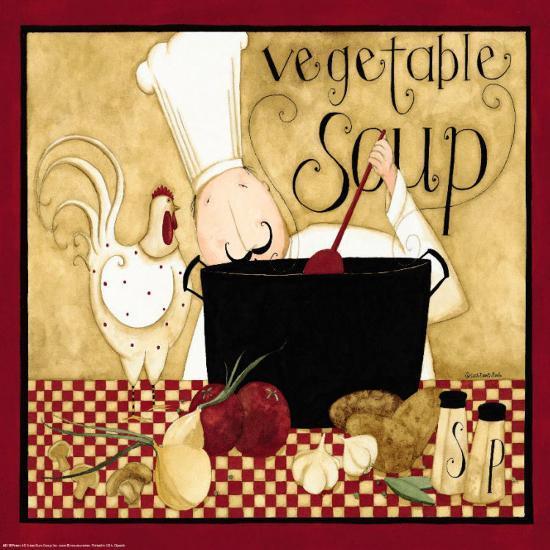 Kitchen Art Kr: Kitchen Favorites: Vegetable Soup Prints By Dan Dipaolo At