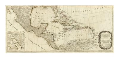 New Map of North America, with the West India Islands (Southern section), c.1786