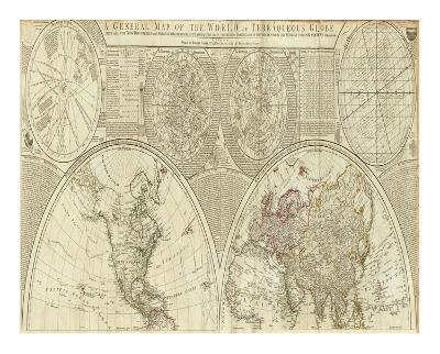 General Map of the World, or Terraqueous Globe, c.1787