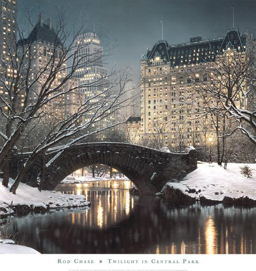 40 Central Park South Nyc: Twilight In Central Park Prints By Rod Chase At AllPosters.com