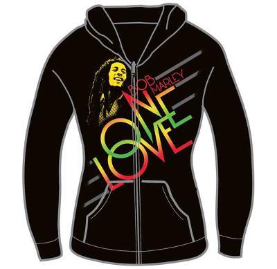 Women's Zip Hoodie: Bob Marley - One Love Smile