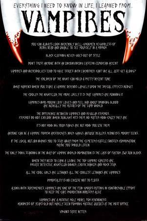 Everything I Know - Vampires
