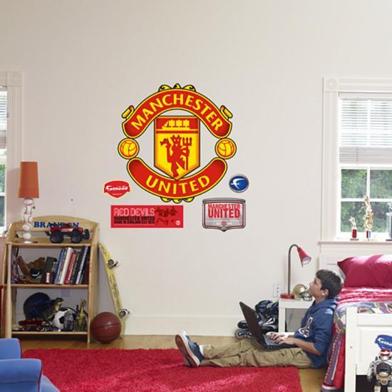 manchester united crest wall decal at allposters