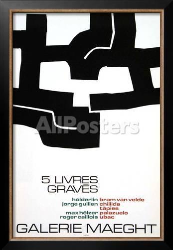 Cinq Livres Graves, 1974 Poster By Eduardo Chillida At