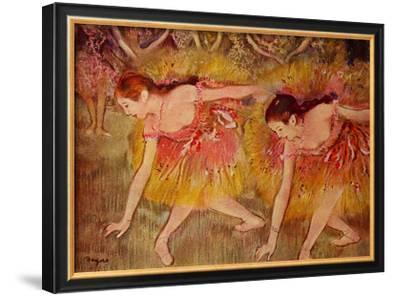 Sich Verbeugende Tanzerinnen Ballerina