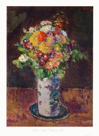 Meadow Flowers in a Clay Vase