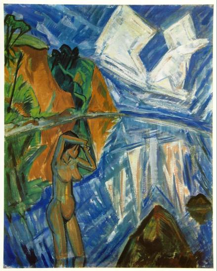 Glassy Day, c.1913 Poster by Erich Heckel at AllPosters.com