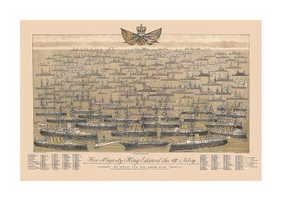 His Majesty King Edward VII's Navy - 'On Which The Sun Never Sets'