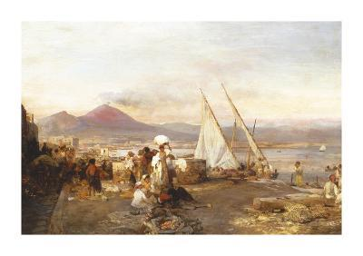 The Bay Of Naples With Mount