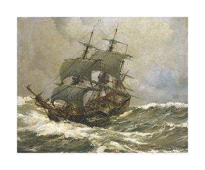Old Timer in Rough Seas