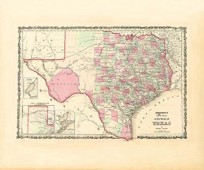 Map of the State of Texas, 1862