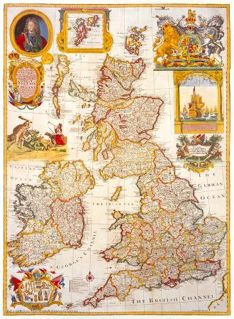 Map of Great Britain and Ireland, c1730