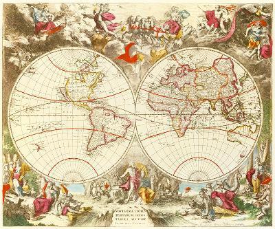 Novissima Totius Terrarum Orbis Tabula, c1710