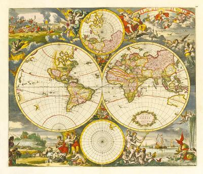 Nova Totius Terrarum Orbis Tabula, 1668