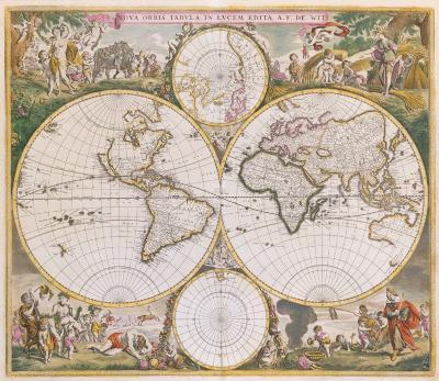 Nova Orbis Tabula in Lucem Edita, c1670