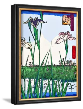 Irises a Pond